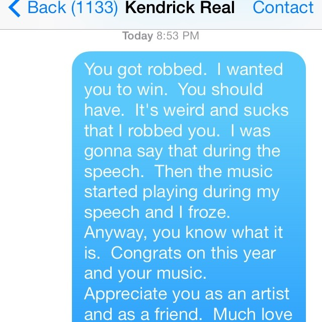 kendrick apology